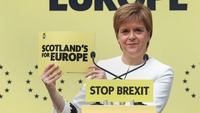European elections 2019: Nicola Sturgeon says Scotland can stay in EU