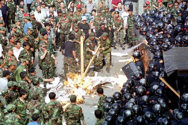 The trashing of Hankyoreh newspaper's offices in Seoul, June 1999