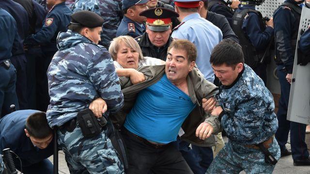 Задержания в Казахстане