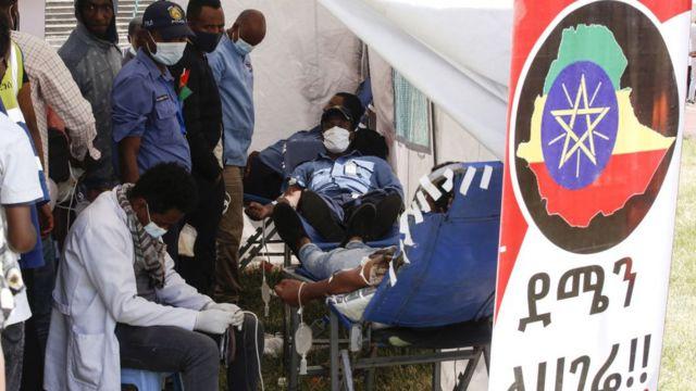 Donación de sangre en Adís Abeba.