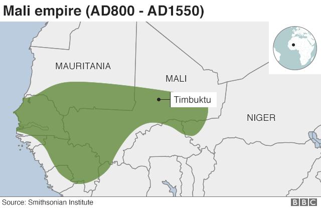 Map of Mali empire