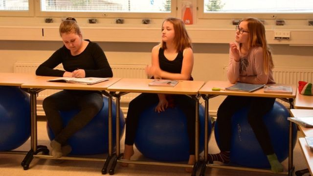 Sala de aula na Finlândia