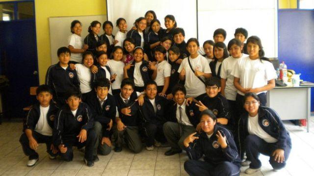 Marcia Rivas con sus alumnos. Foto: Marcia Rivas