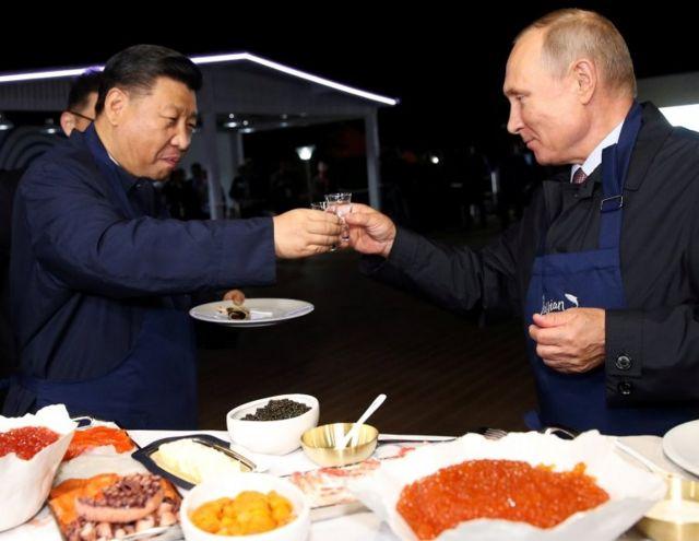 习近平和普京 2018年在俄罗斯
