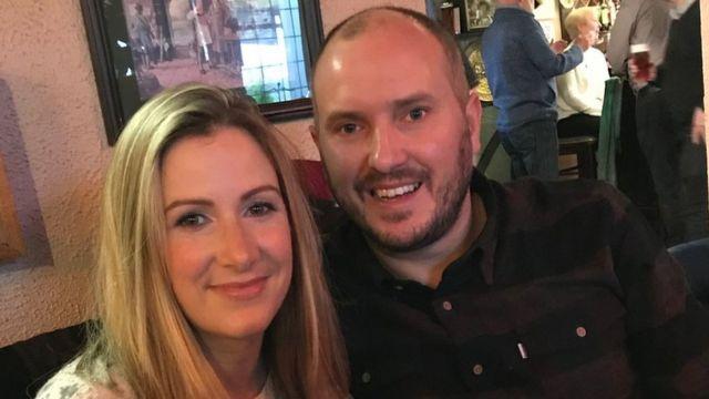 Rachael Bland with her husband Steve