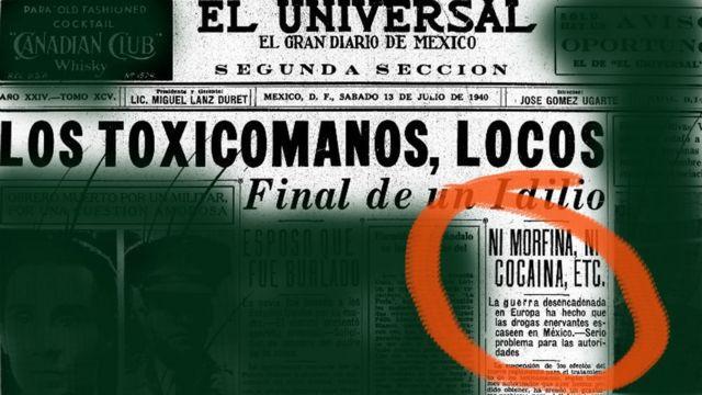 El diario Universal con la noticia
