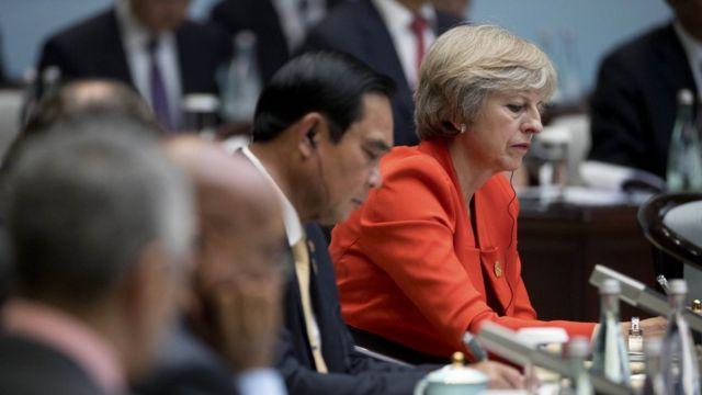 Tereza Mej na samitu G20