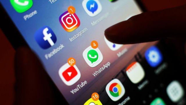 شاشة هاتف ذكي وتطبيقاته