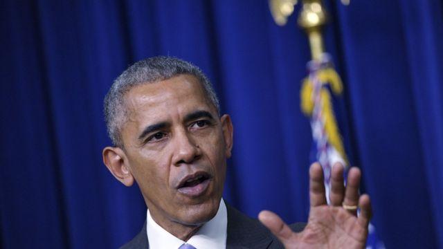 الرئيس الأمريكي المنصرف باراك أوباما