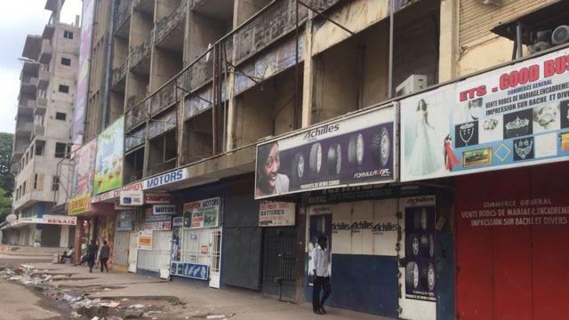 De nombreux habitants de Kinshasa sont restés chez eux.