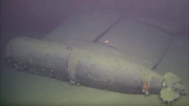 Komsomolets wreckage, filmed by ROV