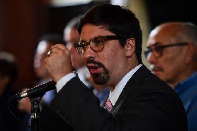 El opositor Freddy Guevara, el vicepresidente de la Asamblea Nacional.