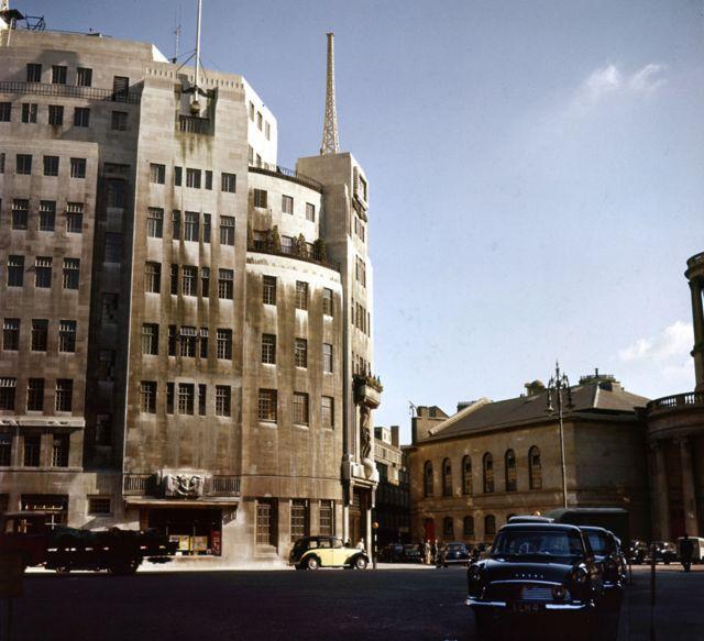 Штаб-квартира Би-би-си в 1959 году