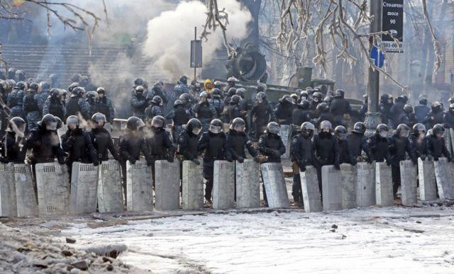 """Беркут"" на вул. Грушевського"