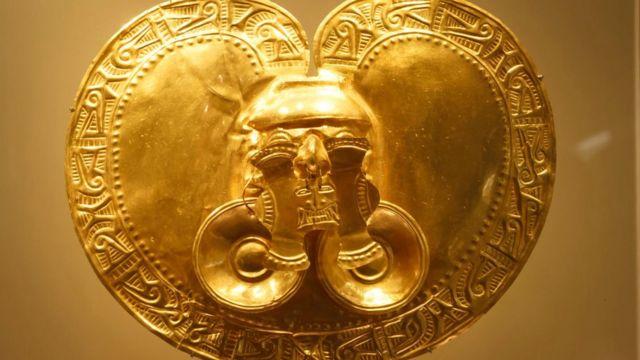 Pieza del Museo del Oro de Bogotá.