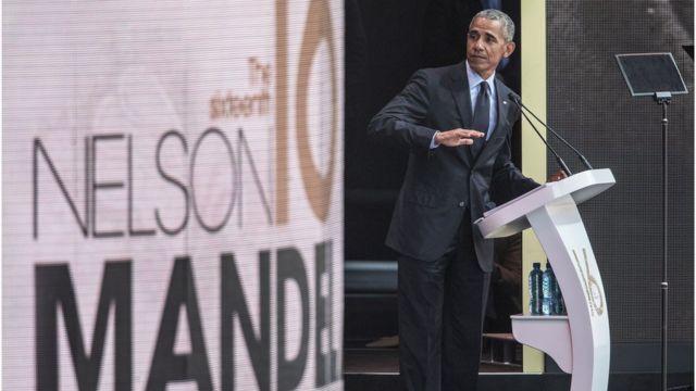L'ancien président américain Barack Obama en Afrique du Sud pour le centenaire de Madiba