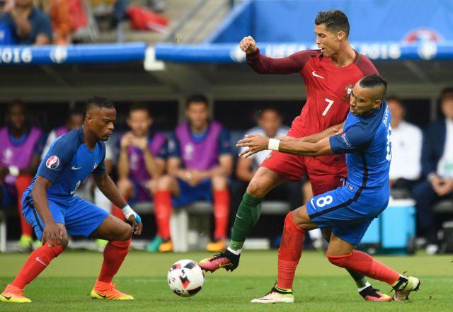 La jugada que lesionó a Cristiano Ronaldo