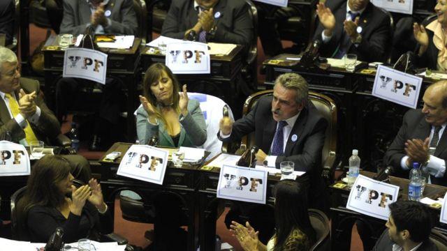 Sesion parlamentaria en Argentina