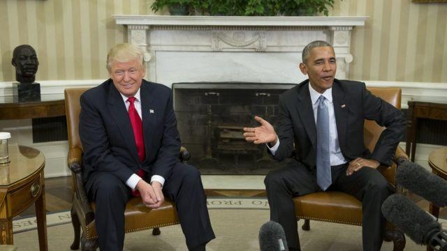 Trump, Obama, White House