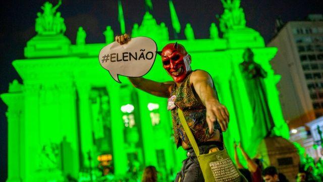Bolsonaro karşıtı eylem.