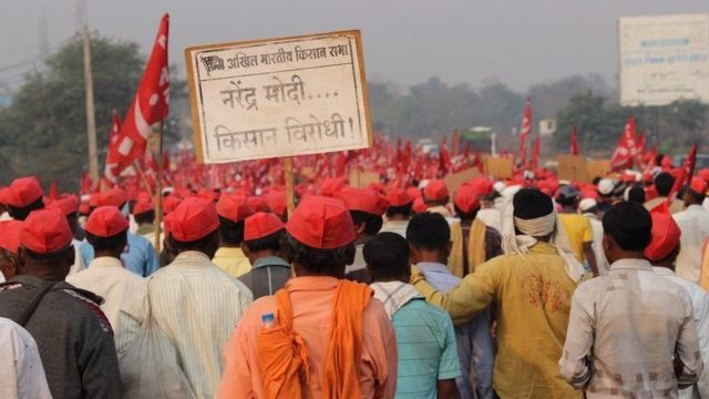 मार्च महीने में किसानों ने महाराष्ट्र में किया था विशाल प्रदर्शन