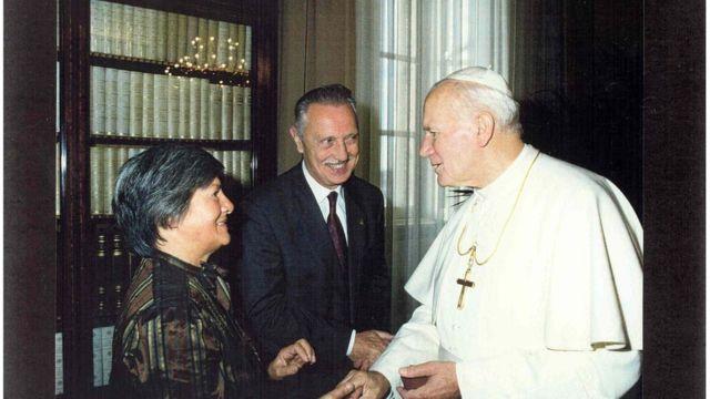 Lejeune y el papa Juan Pablo II