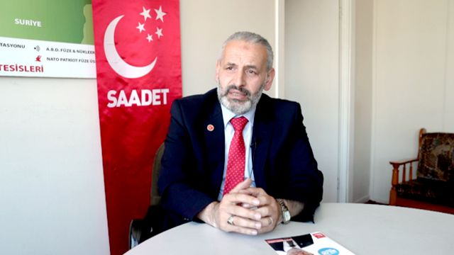 Saadet Partisi milletvekili adayı Hasan Öztürk