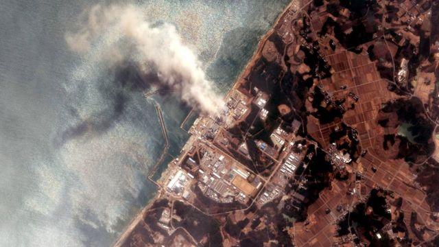 """Снимок """"Фукусимы"""" сверху, март 2011"""