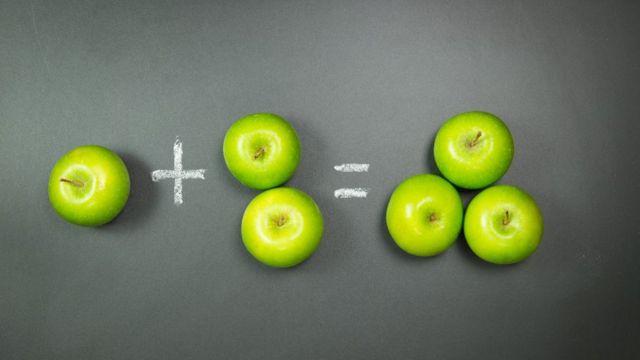 Učenje sabiranja uz pomoć jabuka