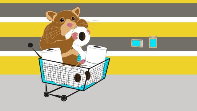 Hamsterkauf - a panic-buying hamster