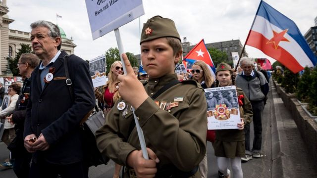 """Marš """"Besmrtnog puka"""", Beograd, 9. maj 2017. godine"""