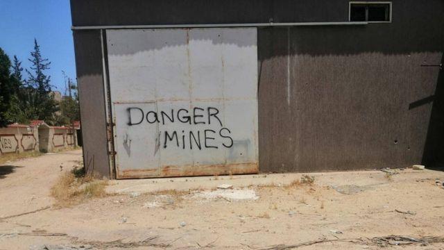 'Danger mines'