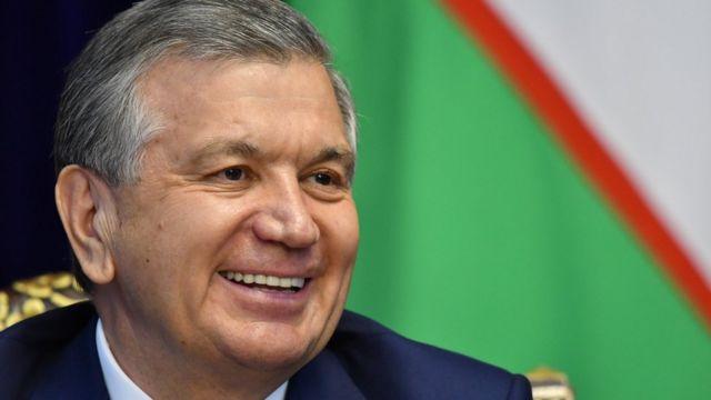 Uzbek President Shavkat Mirziyoyev