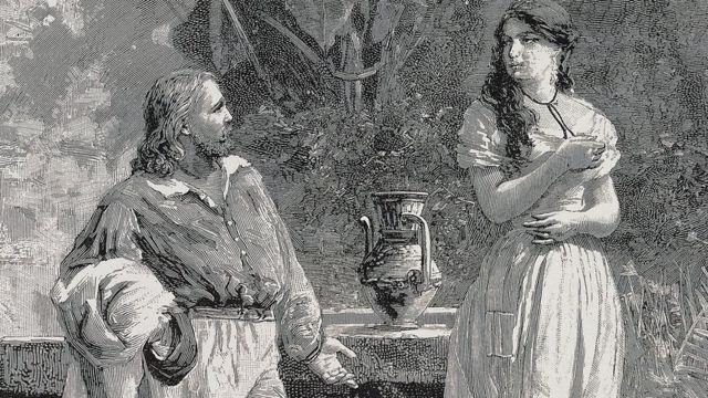 Giuseppe e Anita Garibaldi.
