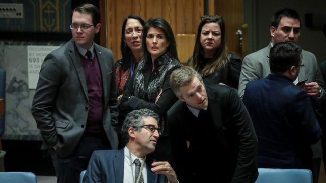 چند عضو شورای امنیت خانم هیلی را به علت آوردن مساله اعتراضات در ایران به شورای امنیت مورد انتقاد قرار دادند