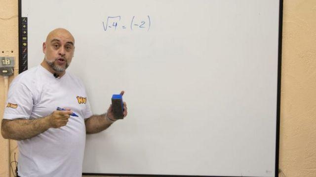Professor de matemática Pedro Real Neto, que também é Youtuber