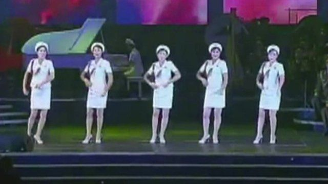 North Korea's all-female pop group perform in China