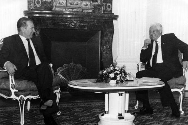 """""""Большой договор"""" подписали президенты Леонид Кучма и Борис Ельцин"""