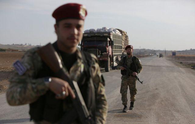 Türkiye'nin desteklediği Milli Ordu askerleri