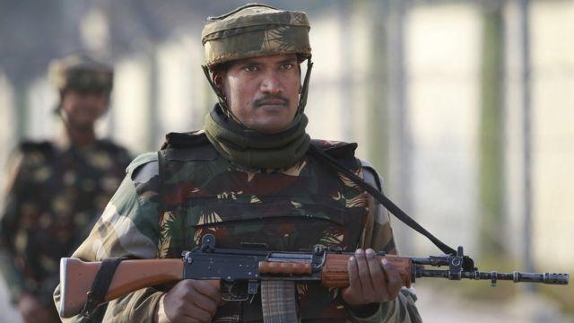 भारतीय सेना का एक जवान.