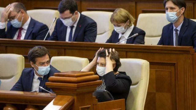 Наталія Гавриліца у парламенті в день призначення