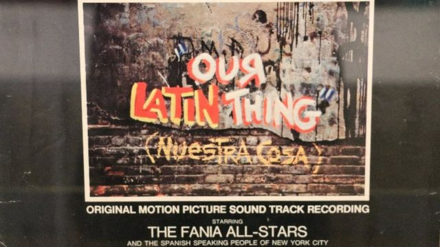 Tapa del disco de la música del documental Our Latin Thing (Nuestra Cosa).