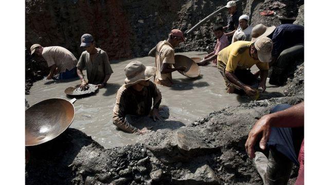 Mineros de batea,