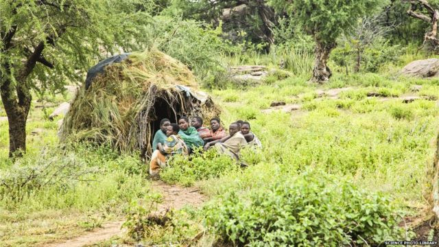 Integrantes da tribo Hazda