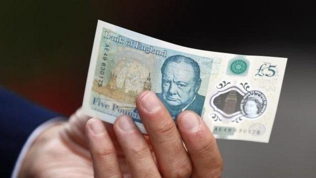 5 पाउंड का नया नोट