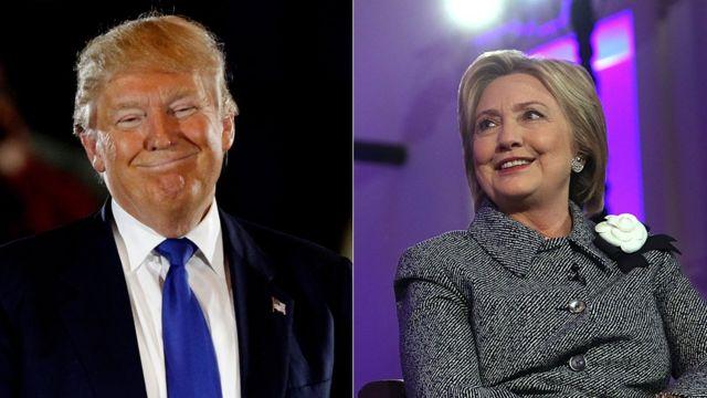 トランプ、クリントン両氏はそれぞれ共和党、民主党の最有力候補となっている