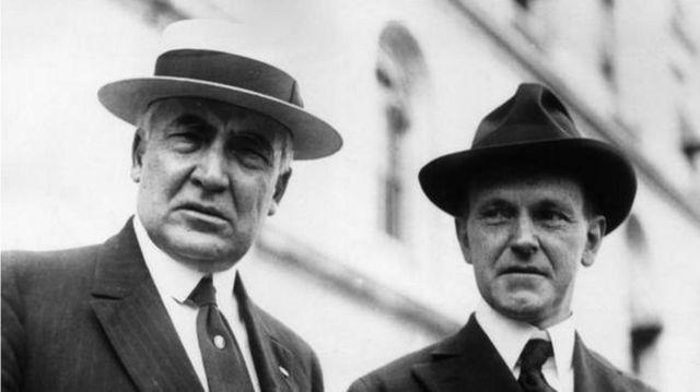 Воррен Гардінг був 29-м президентом США у 1921-23 роках