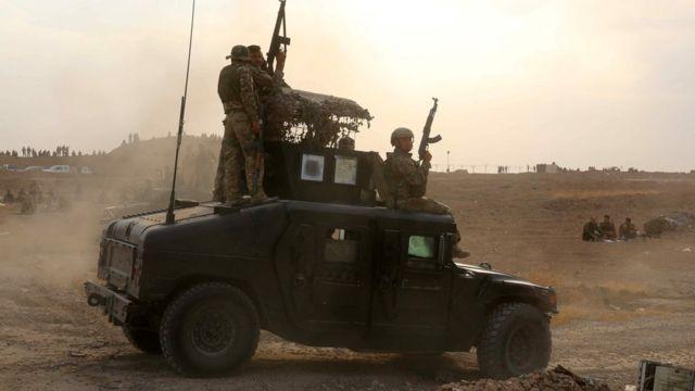 ISと戦うイラクのクルド人戦闘員