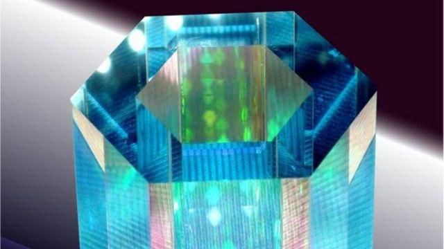 علبة زجاجية لحفظ ذرات روبيديوم