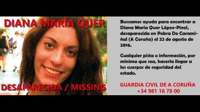 Página de Facebook de búsqueda de Diana Quer.